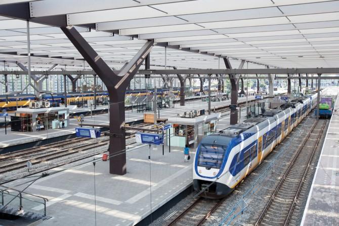 Perronoverkapping station Rotterdam Centraal. Foto: Stefan Verkerk