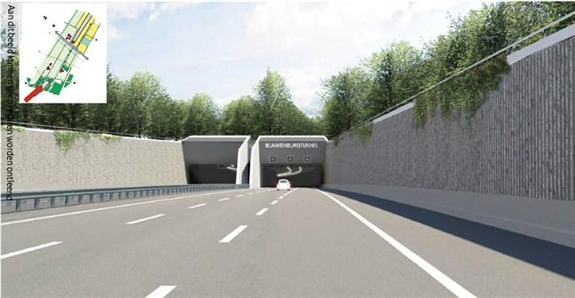 Visualisatie Blankenburgtunnel