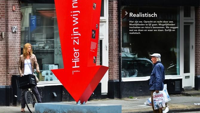 Realistisch, open en eerlijk communiceren. Realistisch is ook een van de 4 kernwaarden. Foto: Alphons van Nieuwenhuis